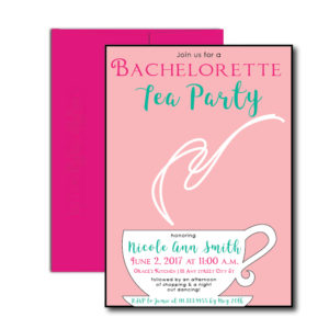 Bachelorette Tea Party Invite