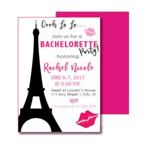 Paris Themed Bachelorette Invite