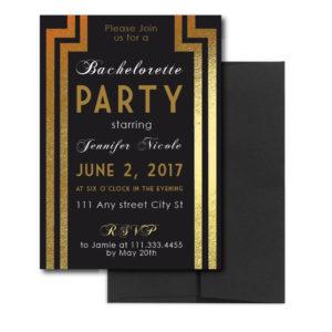 Classic Gold Bachelorette Invite