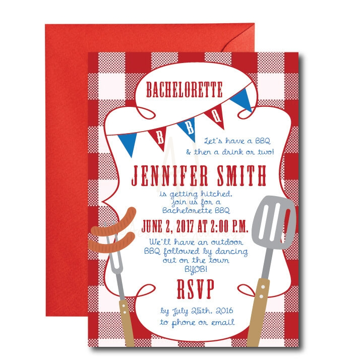 Bachelorette BBQ Invite