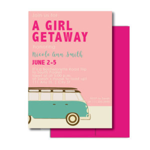 Bachelorette Road Trip Invite
