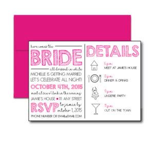 Classic Pink Bachelorette Invite