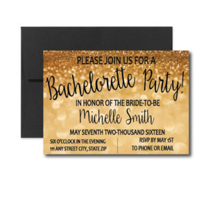 Gold Bachelorette Invite