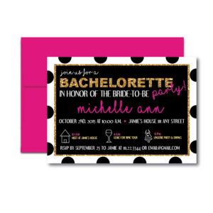 Dotted Bachelorette Invite