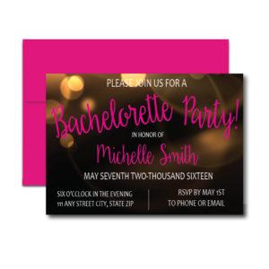 Gold and Black Bachelorette Invite