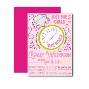 Pink Last Fling Bachelorette Invite