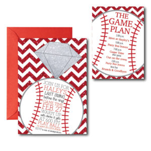 Baseball Themed Bachelorette Invite