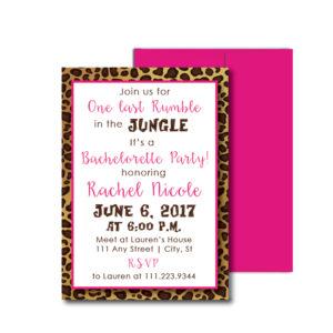 Leopard Themed Bachelorette Invite