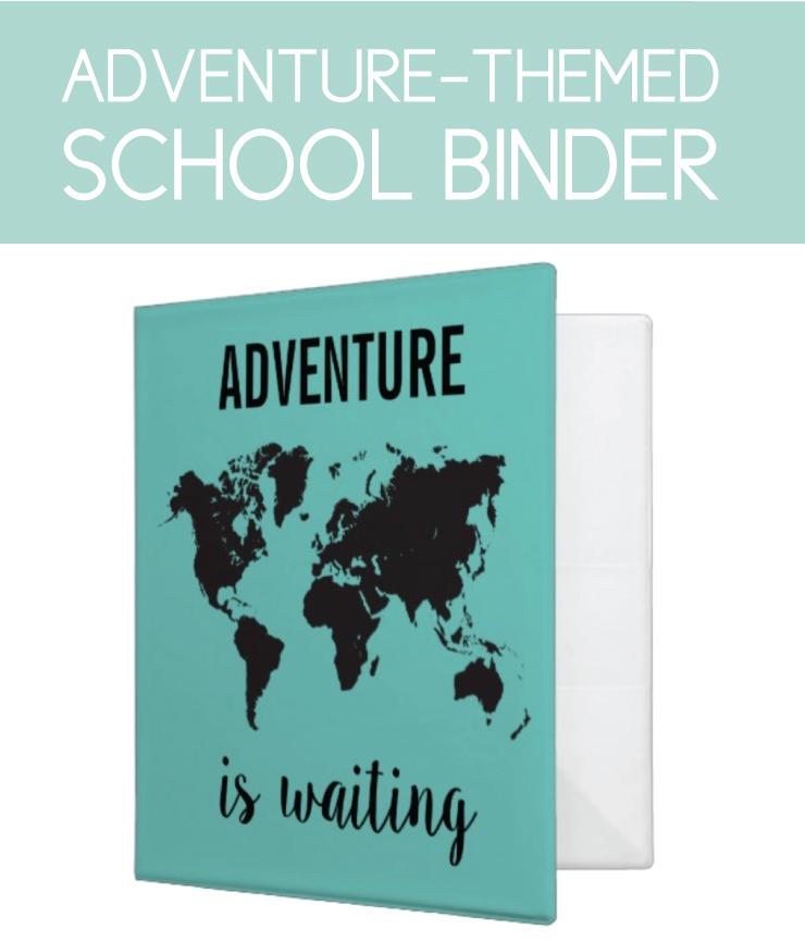 Adventure themed back-to-school binder