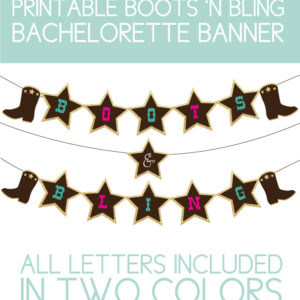 Printable Banner in Two Colors