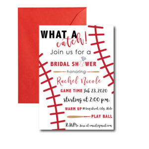 Baseball Bridal Shower Invite
