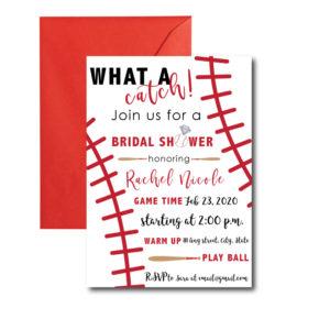 Baseball Bridal Shower Invite