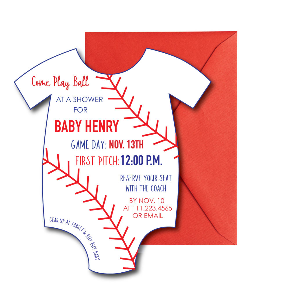 Baby Shower Baseball Invite