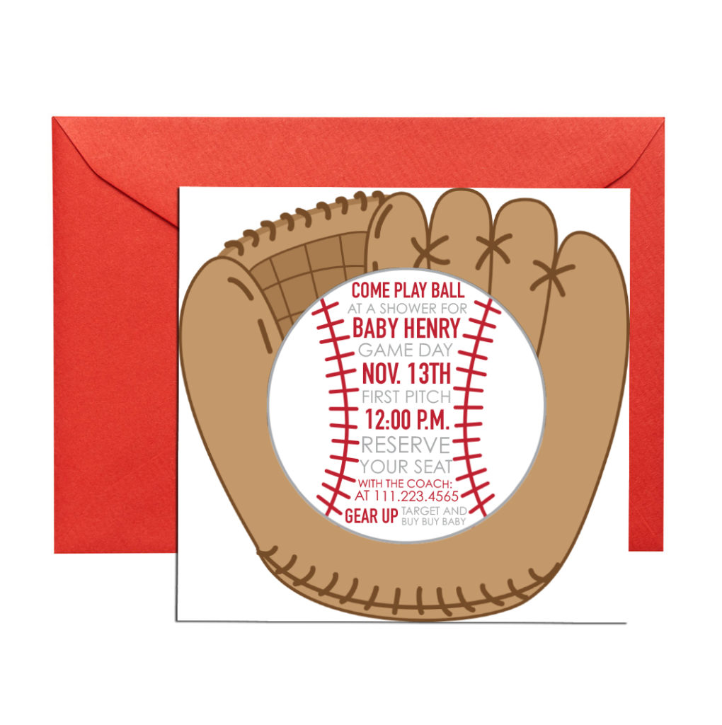 baseball themed invitation