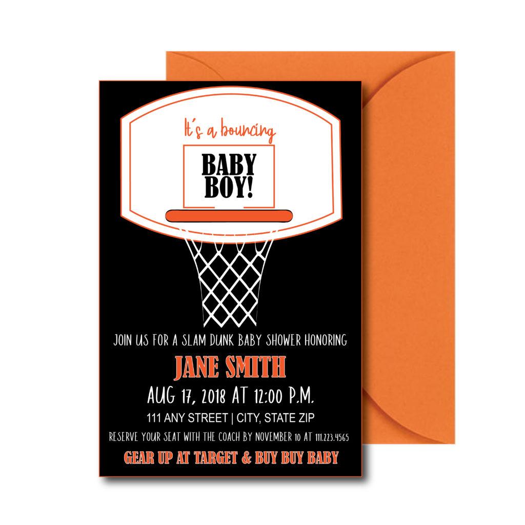 Basketball Themed Baby Shower Invite