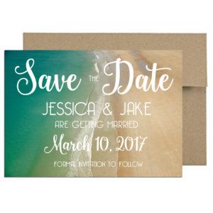 Beach themed wedding invite
