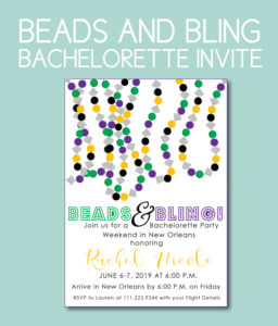 Beads and Bling Bachelorette Theme