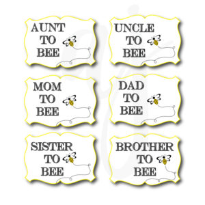 Bee Gender Reveal Photo Props