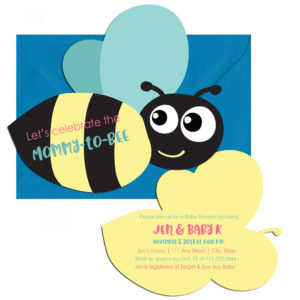 Mommy-to-Bee Baby Shower Invite