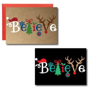 Printed Simple Christmas Cards