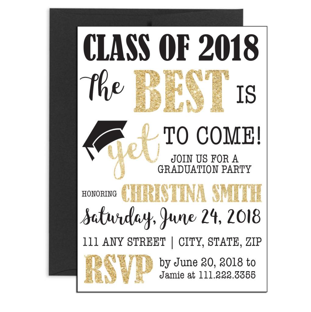 Fun Graduation Invite