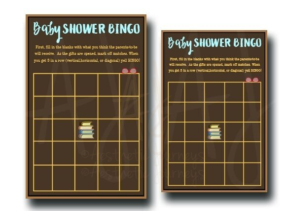 Book BINGO Game for Baby Shower