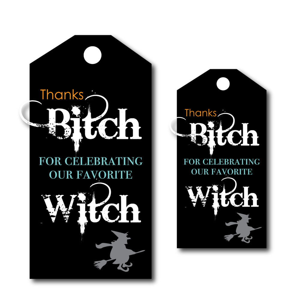 Witch Themed Bachelorette Tags