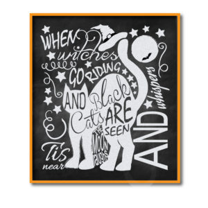 Black Cat Chalkboard Sign