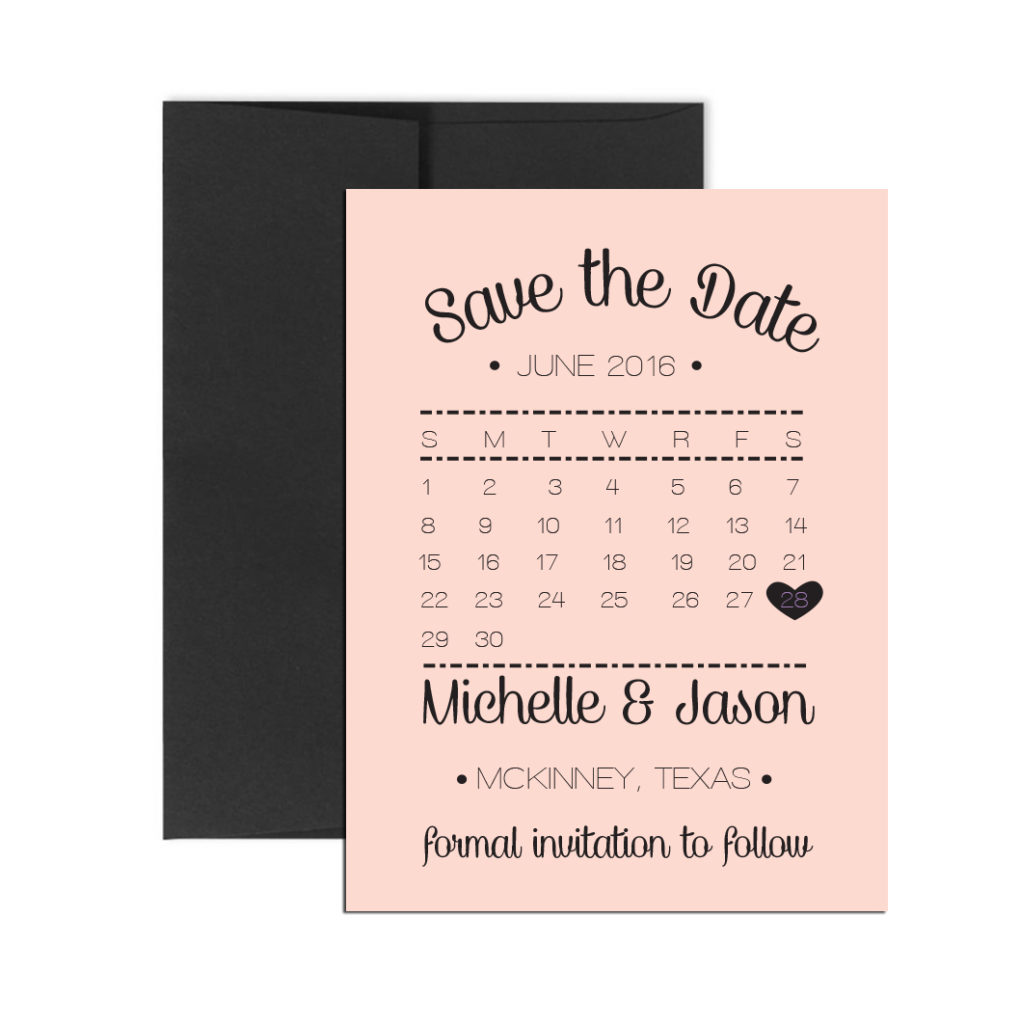 blush calendar magnet