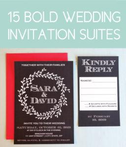 15 Bold Wedding Invites for the Modern Bride
