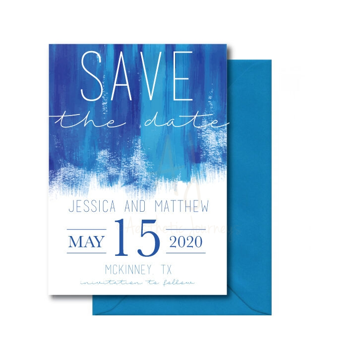 Bold Watercolor Save the Date