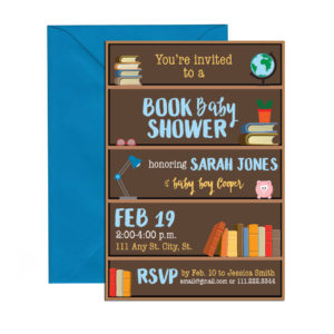 book themed invite