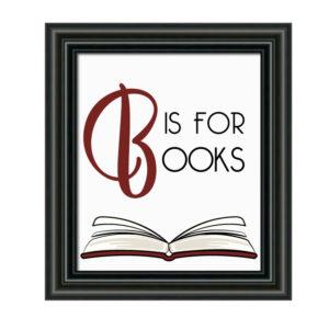 Simple Book Themed Nursery Decor