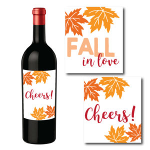 Fall Themed Wine Bottle Labels