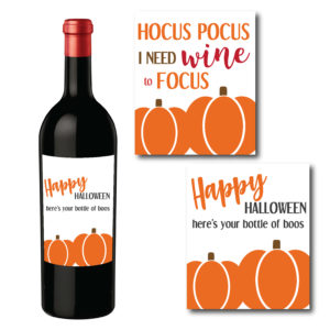 Happy Halloween Wine Bottle Labels
