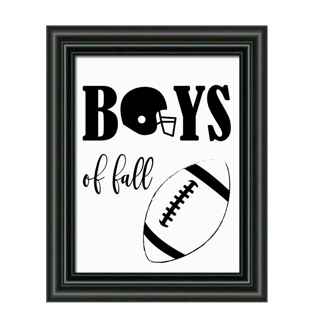 Boys of Fall Football Sign