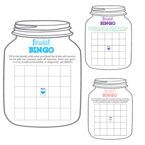 Bridal BINGO Mason Jar Shower Game