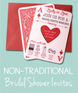 Non-Traditional Bridal Showers