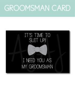 General Groomsman Ask Card