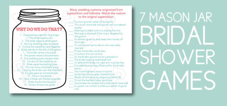 Mason Jar Bridal Shower Games