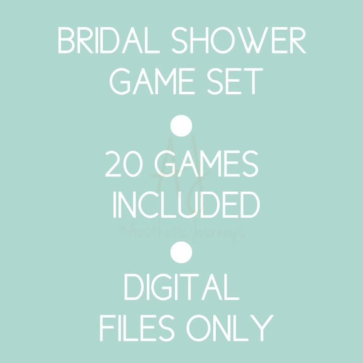 Bridal.shower.game.set