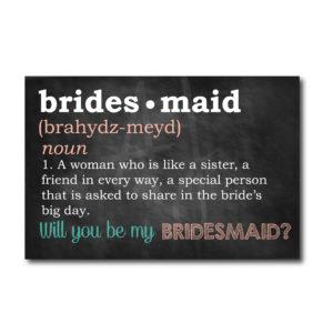 Chalkboard Bridesmaid Defined Card