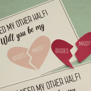Bridesmaid Proposal Card with Sticker
