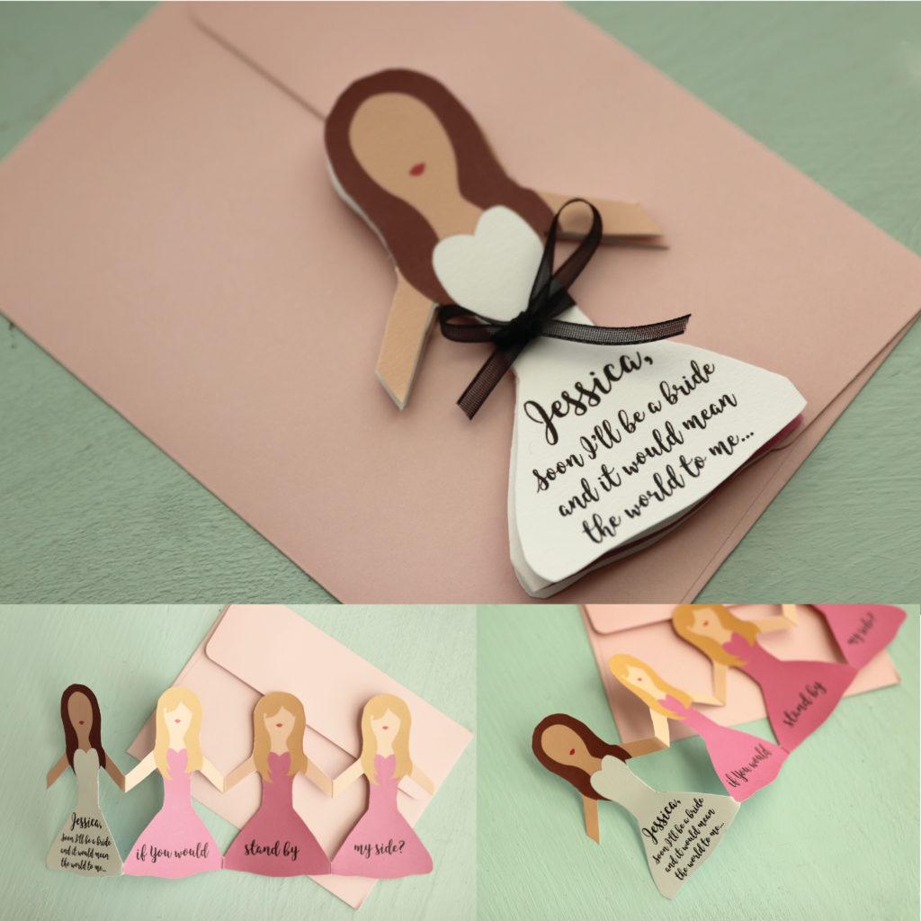 Bridesmaid Proposal Paper Doll Card