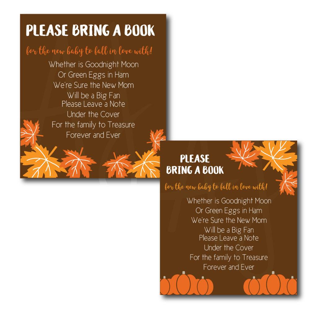Fall Themed Bring a Book Card
