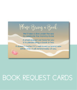 Beach-Themed Bring a Book Cards