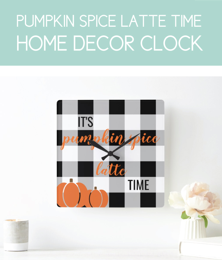 It's time for pumpkin spice wall clock for fall