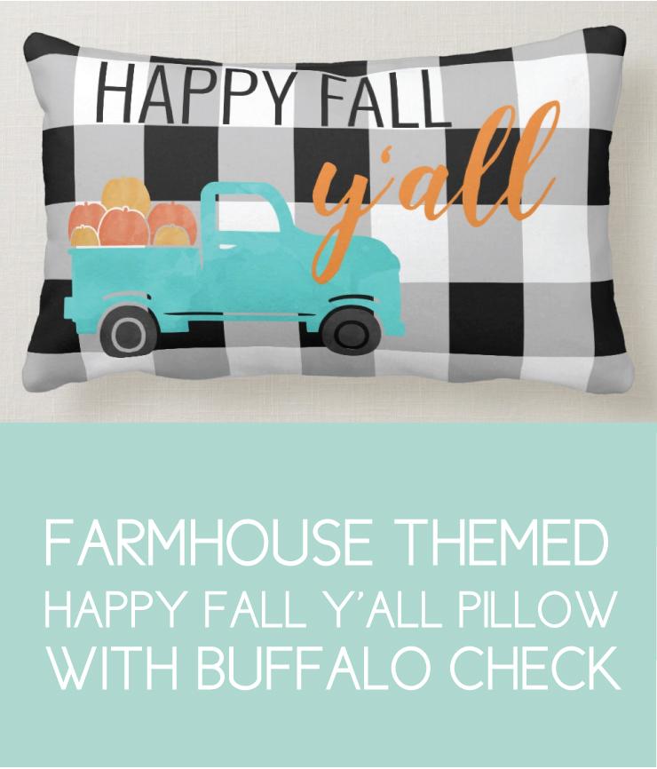Buffalo Check Fall Decor Pillows