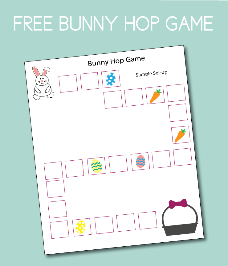 Sample layout for the Bunny Hop Game.