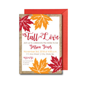 Rustic Fall Bridal Shower Invite